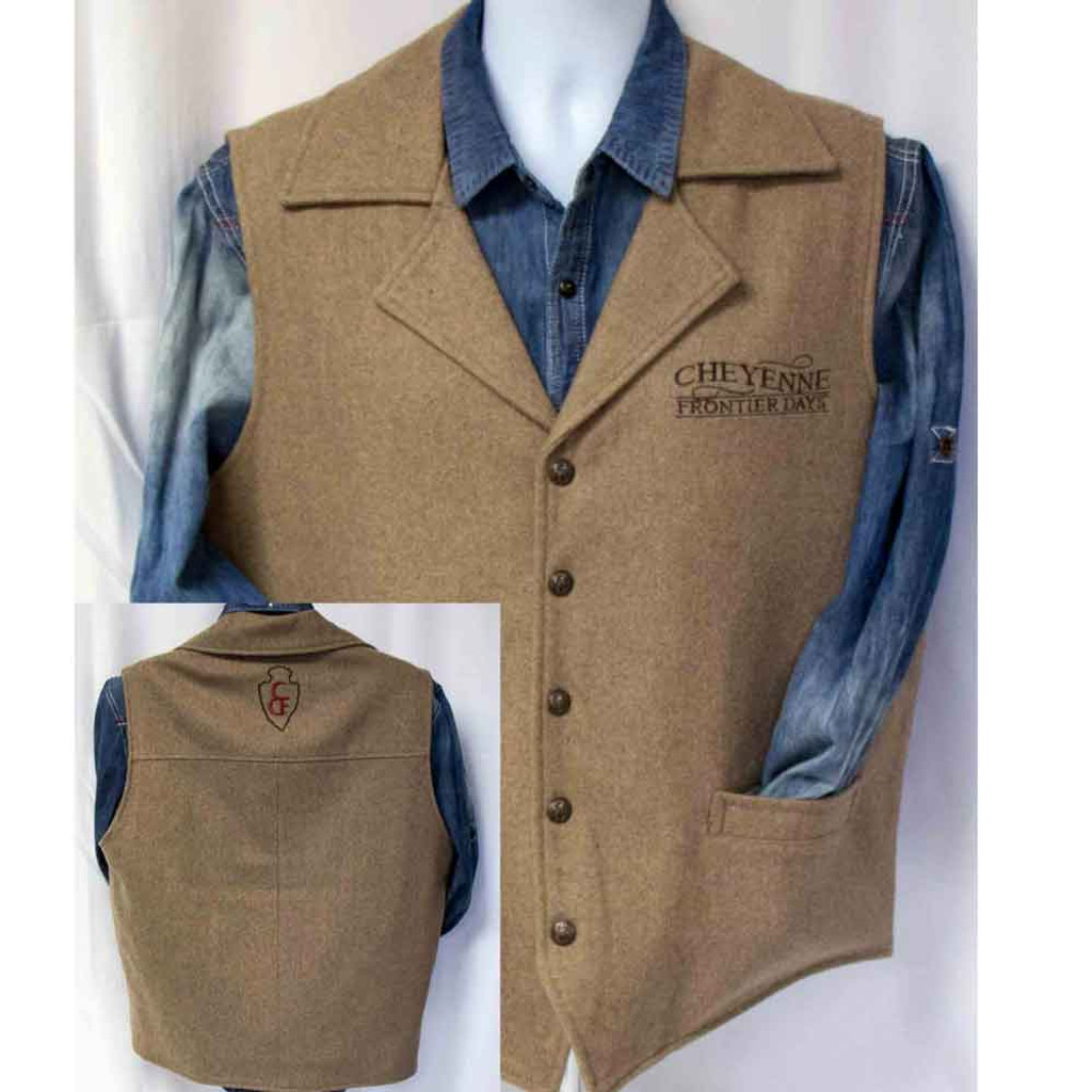 CFD Wool Vest with Conceal Carry Pocket