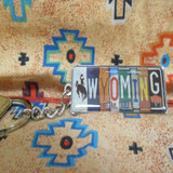 Letter Plate Keychain