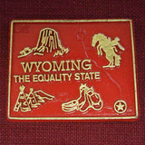 Wyoming Map Magnet- Red (12-008-0101)