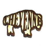 Laser Etched Wooden Buffalo Magnet (12-008-0206)