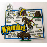 Wyoming Map Collage Magnet (12-008-0217)