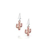 Desert Darling Rose Cactus Earrings