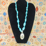 CFD Arrowhead Turquoise Necklace