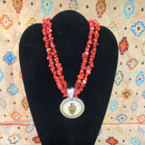 CFD Barbed Wire Coral Necklace