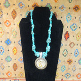 CFD Gold Brand Turquoise Necklace