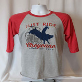 Jersey Raglan Tee (Gray/Red)