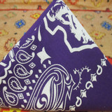 CFD Paisley Bandana (Purple/White)