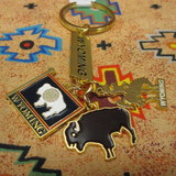 Three Charm Wyoming Key Chain