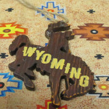 Wood Wyoming Bucking Horse Ornament