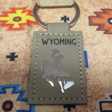 Leather Wyoming Bronc Key Chain