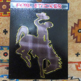 Foil Wyoming Bronc Sticker