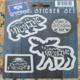 Wyoming Sticker Set