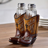 Cowboy Boot Salt & Pepper Shaker Holder