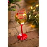 Happy Alcoholiday, Wine Glass w/ box