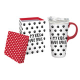My Kids Have Paws Ceramic Travel Cup