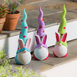 Ceramic Bunny Gnome Statue