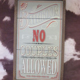 NO COUPLES SIGN