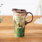 Keep Life Simple Ceramic Travel Cup