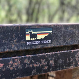 SUNSET RODEO TIME DECAL