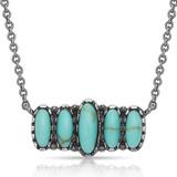 Turquoise Quint Bar Necklace