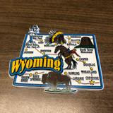 Jumbo Wyoming Map Magnet