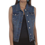 Scully Denim Vest for Braided Tie Back