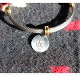 Bangle Bracelet with CFD Arrowhead Circle Charm (05-001-1158)