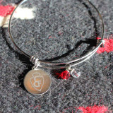 Bangle Bracelet with CFD Arrowhead Circle Charm (05-001-1159)