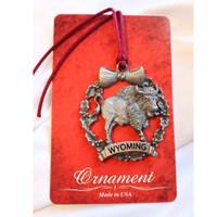 Wyoming Bison Christmas Ornament (10-009-9334)