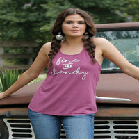 """Fine & Dandy"" Racerback Tank (Purple)"