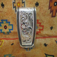 CFD Softly Roped Money Clip (Silver)