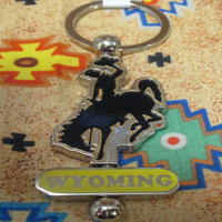Wyoming Bronc Spinner Key Chain