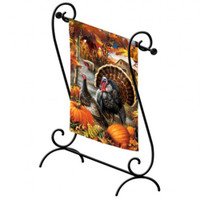 Porch Scroll Garden Flag Stand