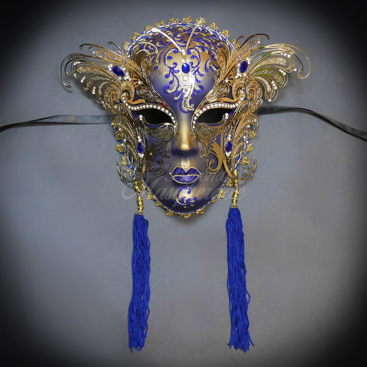 Wall Decor Masquerade Mask Masquerade Mask Venetian Masquerade Mask Gold   Blue Mask Mardi Gras Mask Masquerade Ball Mask