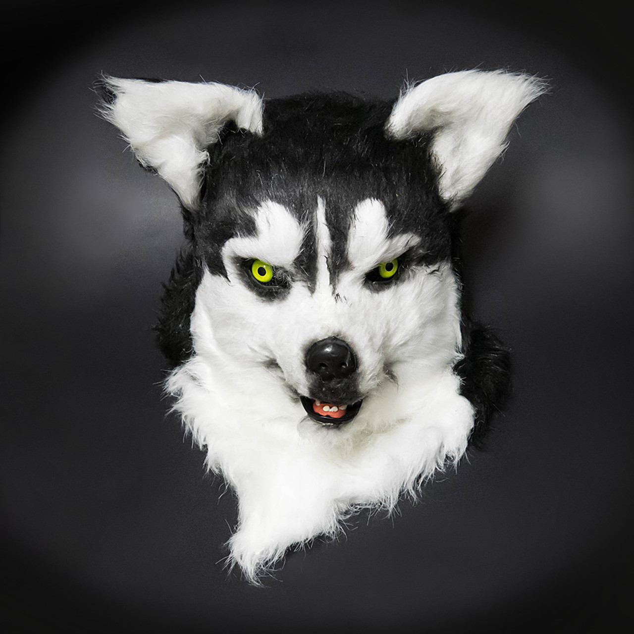 Wolf costume mask wolverine over the head mask black white wolf