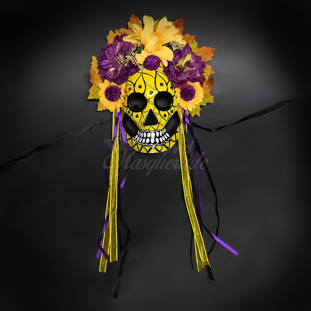 Day of the Dead Mask Dia de los Muertos Masquerade Mask for Women M38038
