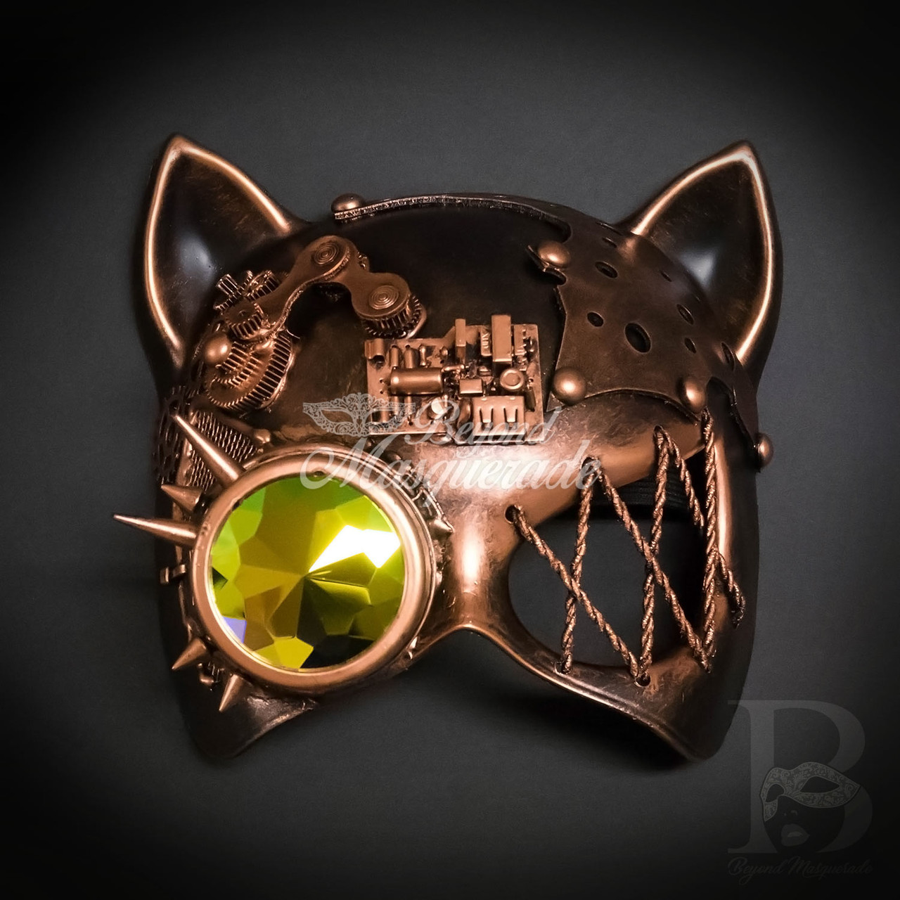 Steampunk Phantom Half Face Masquerade Ball Mask Prom Party Glass Goggle Mask