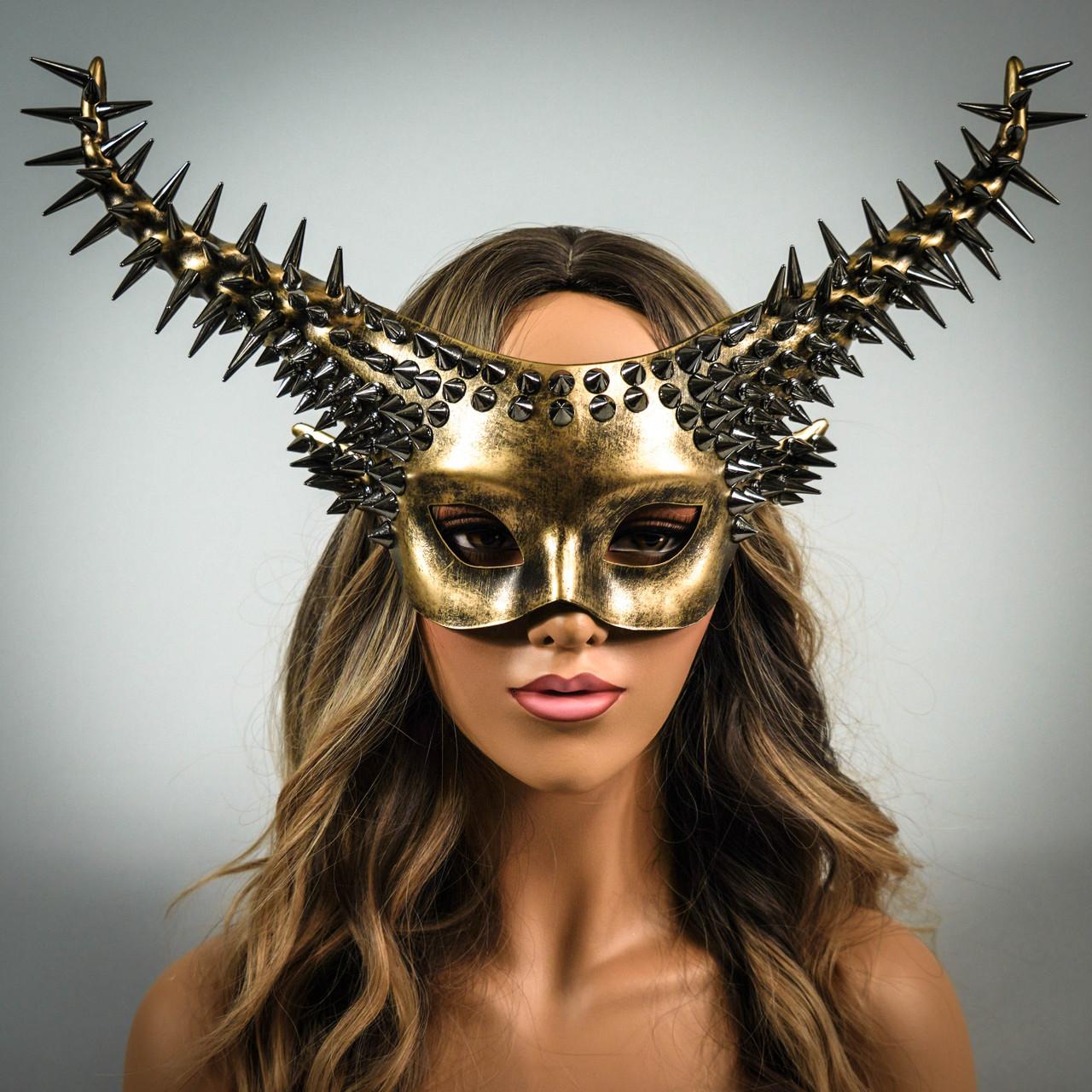 Halloween Mask Devil Mask Black Gem Black Red Masquerade Mask Whimsical Masquerade Masks Masquerade Masks Masquerade Mask Ram Mask