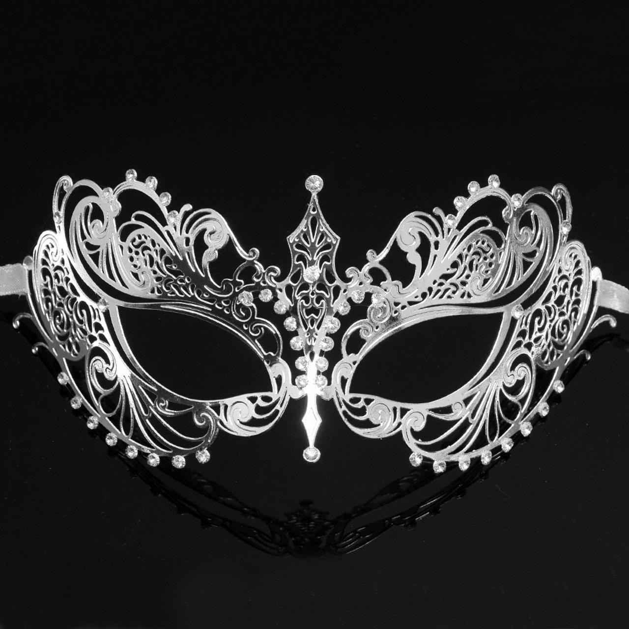 Black With silver masquerade ball masks