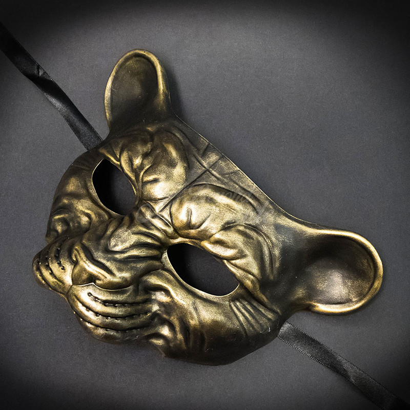 Men/'s Masquerade Mask Leopard Animal Masquerade Mask Gold Ball Mask