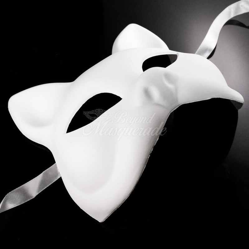Cosplay Costume Party DIY Mask Unpainted White Blank Masquerade Mask M0014