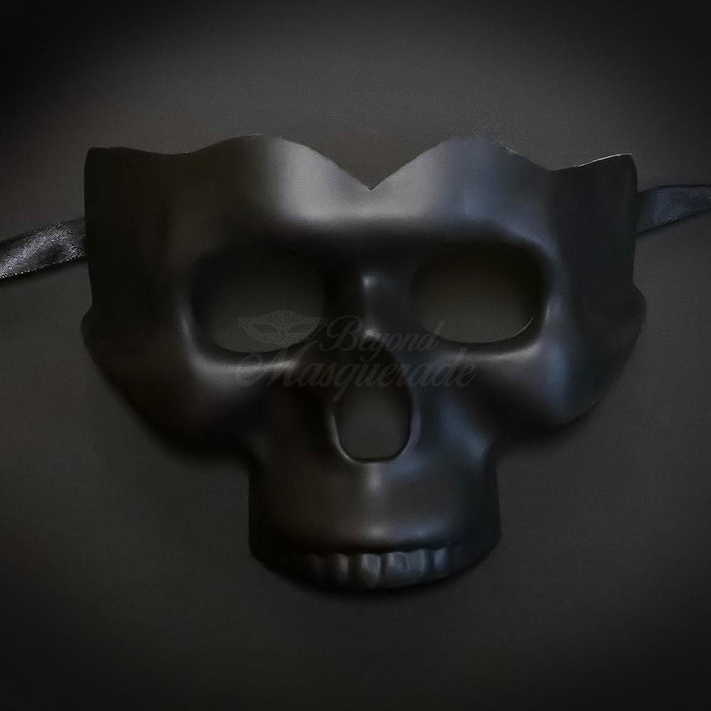 Venetian Skull Mask Fuoco Iron with Black Shading