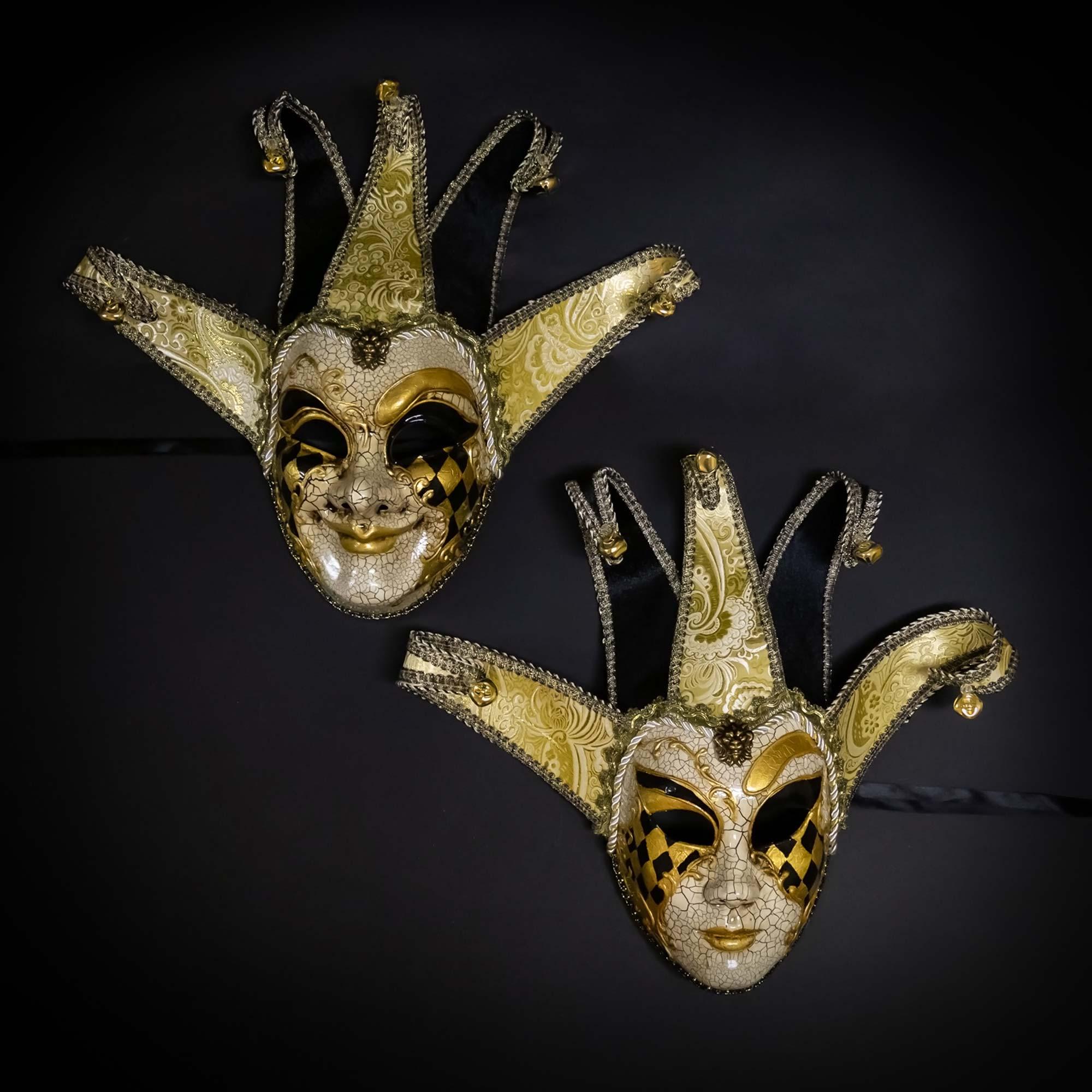 Black Red Skull Man Woman Couples Halloween Venetian Masquerade Metal Masks Set