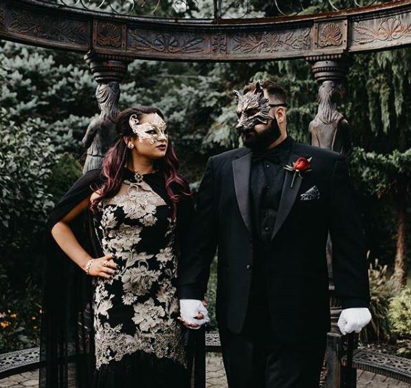 BeyondMasquerade.com Wolf Couple's Masquerade Masks.