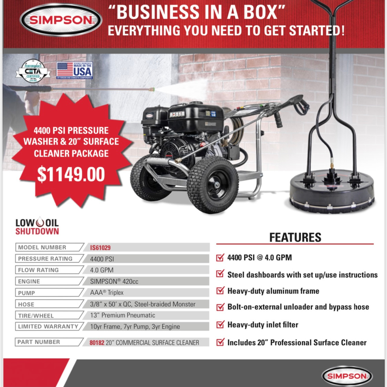 Business In A Box by Simpson Pressure Washers