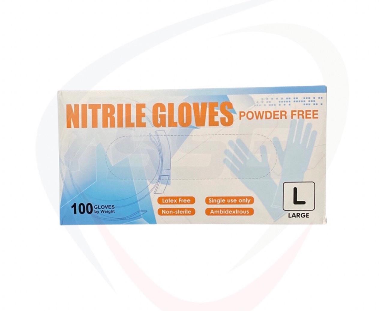 Nitrile PF Blue 3 Mil Gloves