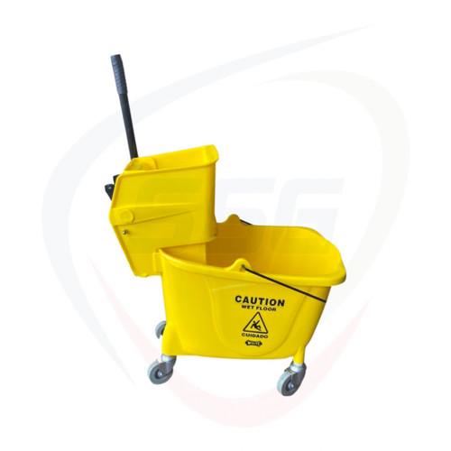 Impact yellow 35 quart mop bucket