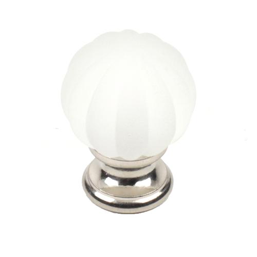 "CENTURY Tahoe Glass 1-1//4/"" Cabinet Knob Door Pull Chrome /& Sapphire 18409-26S"