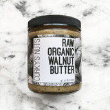 CORKY'S NUTS Raw Organic Walnut Butter - packaging: 8oz jar
