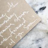 handwritten note of your choosing!